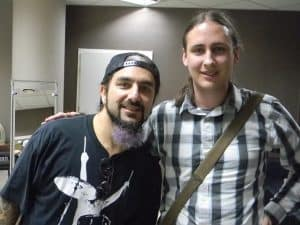 Mike Portnoy i Marcin Marcinkiewicz z Tonu Składowego