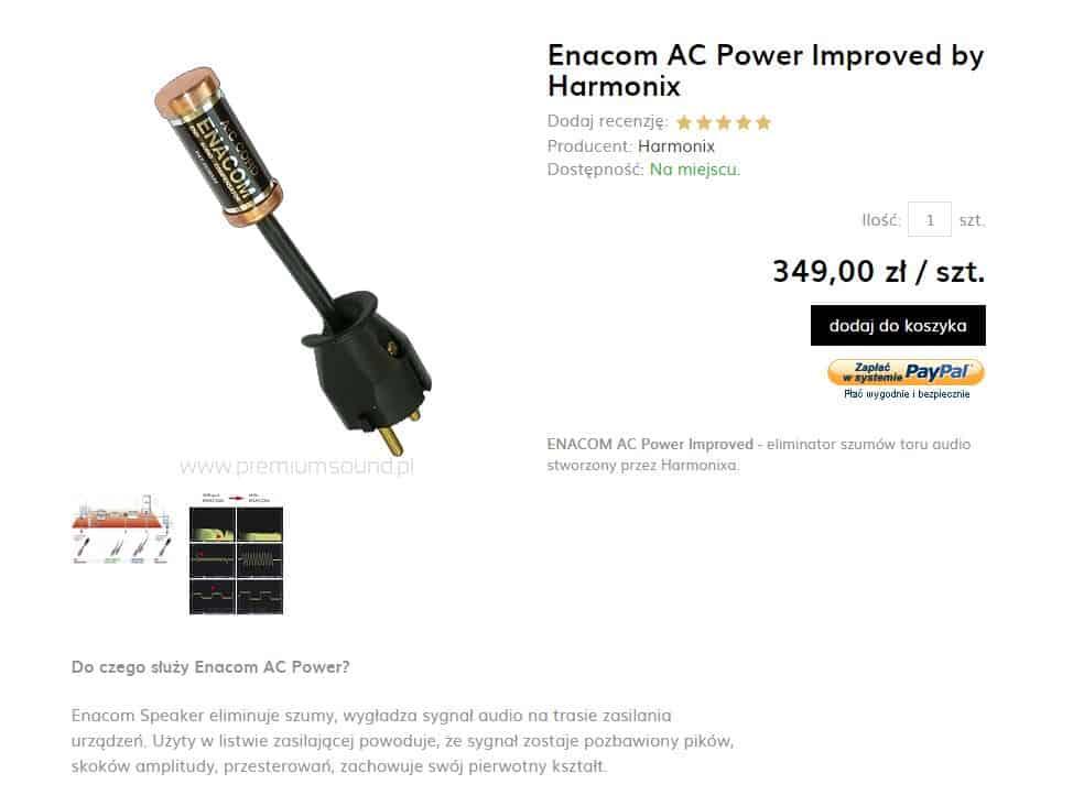 Eliminator szumów toru audio Enacom AC harmonix